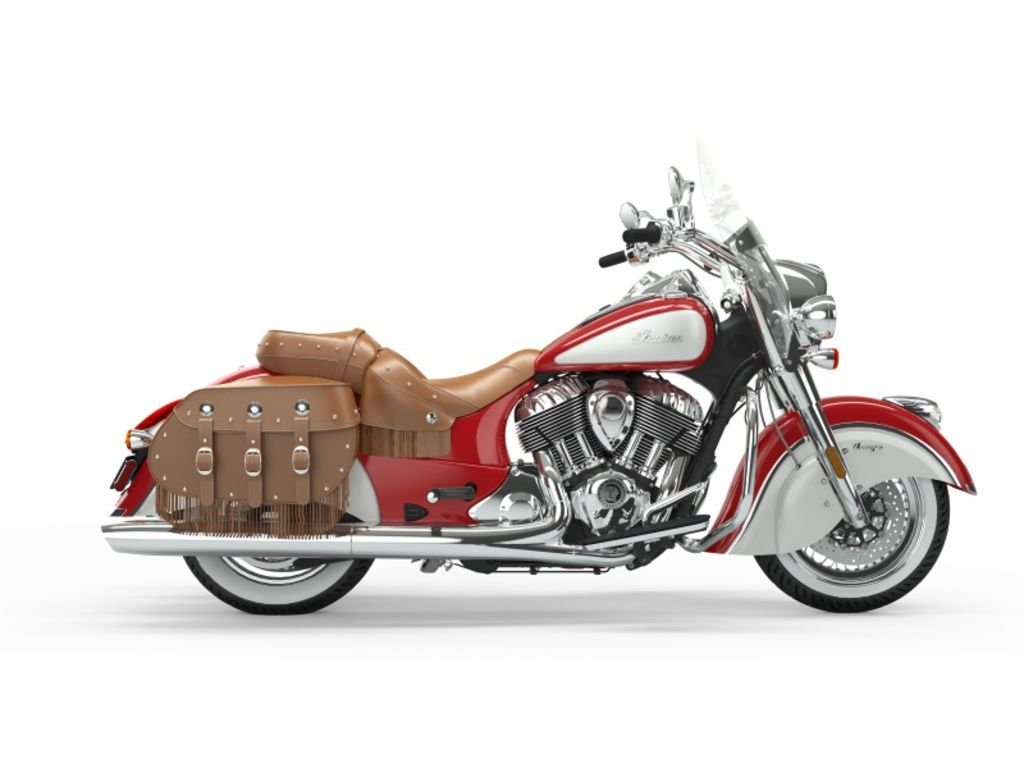 New 2019 Indian Motorcycle Chief® Vintage Icon Series Patriot Red/Pearl White Cruiser