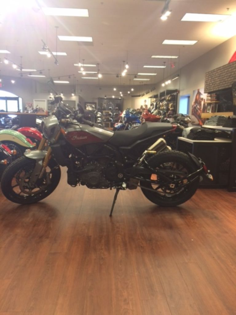 New 2019 Indian Motorcycle FTR™ 1200 S Red over Steel Gray Cruiser